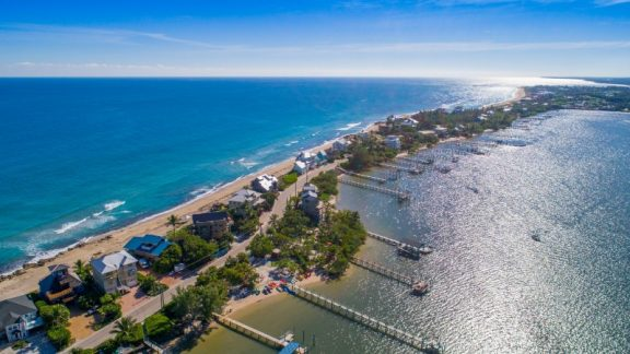 aerial view of Hutchinson Island South
